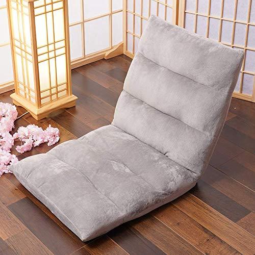 Lazy - Sofá individual Tatami - Silla de suelo plegable - Sofá cama con respaldo ajustable - Cama Futón para meditación, lectura, juegos, silla de suelo para niños y adultos