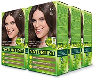 6 pack of Permanent Hair Color - 5N, Light Chestnut Brown, 5.6 oz