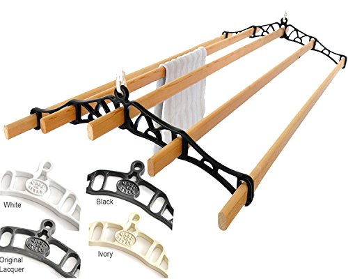 Premium British Cast Iron Ceiling Airer Victorian 5-Slat Bracket White 5ft-Slats
