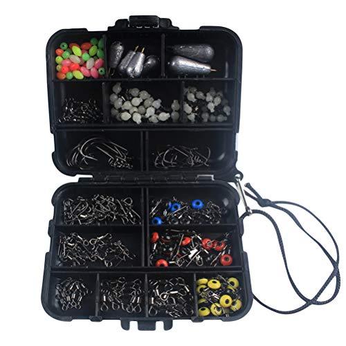 LIOOBO 177 Teile/Satz Outdoor Sea Fishing Rock Angeln Gadget Tool Set Angeln Verwenden Zubehör Werkzeugkasten (Schwarz)