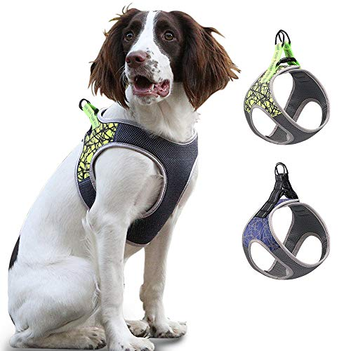 Soft Mesh Padded Pet Vest for Walking Training Running Easy to Put on /& Take Off Suitable for Small Medium Large Dog No Pull Dog Harness Reflective Adjustable Vest