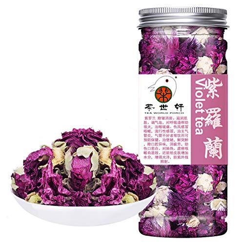 Plant Gift Violet Tea Organic Dried Loose tea, Food Coloring, Blossom Flower, chinese Purple, violet, Clitoria Ternatea, Vegan Herbal Teas 35g/1.23oz