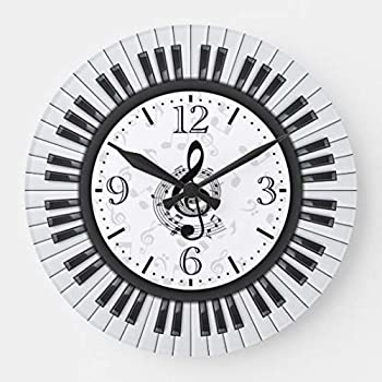Piano Keyboard Accessories 30cm Vinyl Record Clock Musical Instruments Decoration for Conservatory of Music