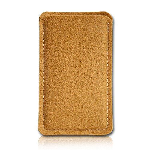 sw-mobile-shop Filz Style Wiko Riff Premium Filz Handy Tasche Hülle Etui passgenau für Wiko Riff - Farbe Kupfer