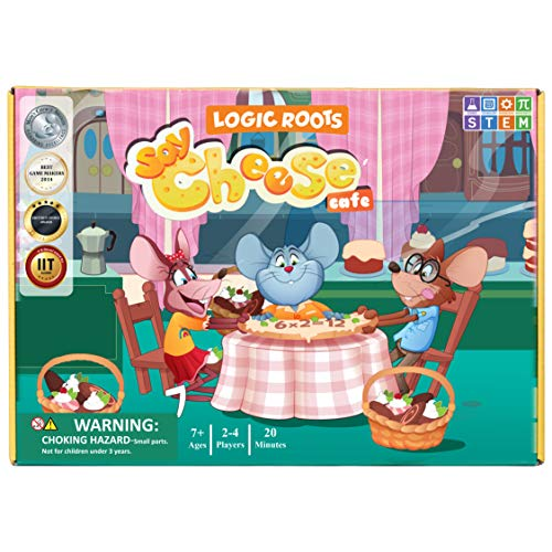 Logic Roots Say Cheese Multiplication Game - Fun Math Board Game for 7 - 10...