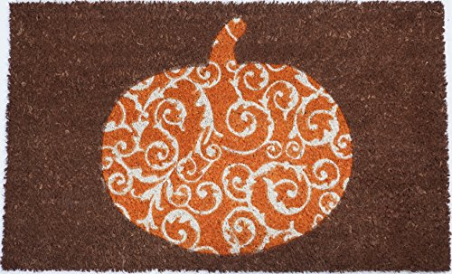 """Pumpkin Non-Slip Coconut Fiber Doormat 17"""" X 28"""" X .5"""""""