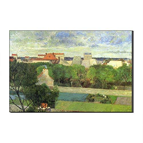 Five-Seller Pinturas Famosas De Lienzo Los Jardines De Mercado De Vaugirard por Paul Gauguin Arte De La Pared Reproducción De Bellas Artes Impreso En Lienzo (con Marco,40_x_60_cm)