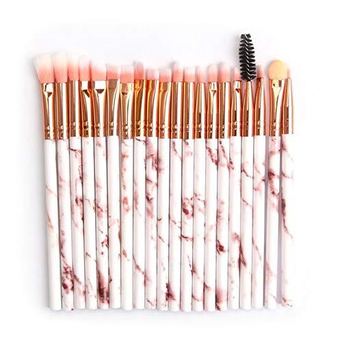 HZSLRL Pinceaux De Maquillage Set Pro 10 / 20Pcs Brosse Multifonctionnelle Marbling Eyeshadow Mélange Eyeliner Eyeliner Eyebrash Brosse Pour Outil De Maquillage 20Pcs-Rose