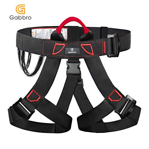 Gabbro Climbing Harness, Thickened Wider Safety Harness to Protect Waist, Safety Gear Climbing Rope for Fall Protection, Harness for Work at Height Fire Rescuing (Harness)