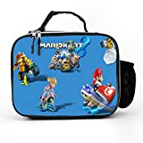 Athena Carroll Mario Kart 8 Video Games Toad Mario Bros,Insulated Lunch Bag,Lunch Box for Women/Men,Leakproof Reusable Cooler Tote,Office Work, for Lunch Box,21279cm
