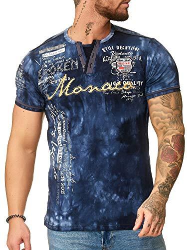 Code47 Herren T Shirt Hoodie Longsleeve Kurzarm Shirt Sweatshirt ?Monaco? 3396 Navy L