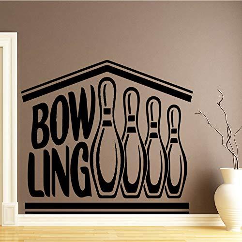 BFMBCH Kreative Bowling Wandaufkleber Kinderzimmer Dekoration Home Party Dekoration Tapete Home Dekoration Zubehör Wandaufkleber Lila L 43 cm X 56 cm