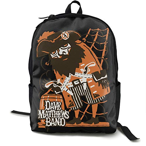 N / A Dave Matthews Band Paket Klassischer Rucksack Schultasche Schwarze Tasche Arbeitsreise Zur Polyester Unisex Schule