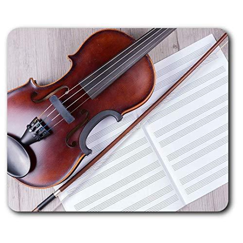 Comfortabele muismat: klassieke viool muziek; ideaal voor computer en laptop, kantoor, cadeau, antislip onderkant.