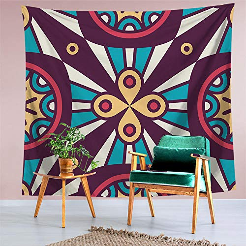 hylzs Gestreifte Tapisserie Wandbehang Test Polyesterfaser Mandala geometrische Muster Tapisserie Hause Hintergrund Wanddekoration Yoga Multifunktions-Pad -18_150cmx130cm