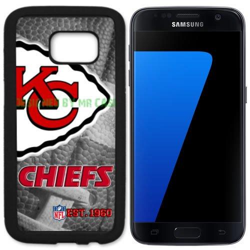 Chiefs KC Football New Black Samsung Galaxy S7 Case by Mr Case