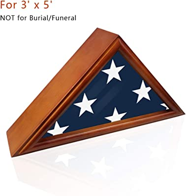 DecoWoodo Flag Display Case 3' x 5' Not for Burial or Funeral Flag