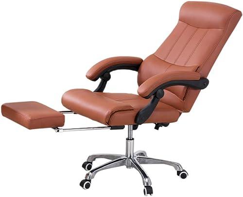 Chaises, Chaise douce confortable Durable Facile à nettoyer Chaise Chaise de bureau Chaise d'ordinateur Chaise de conférence (Couleur   marron)