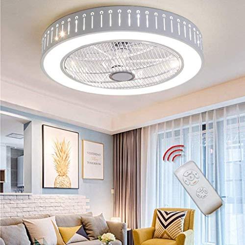 Ventilador de techo ventilador de techo luz de techo LED de iluminación regulable con control remoto y silencio Ventilador tranquilo para la habitación para niños Camisero de cuarto de baño Lámpara de