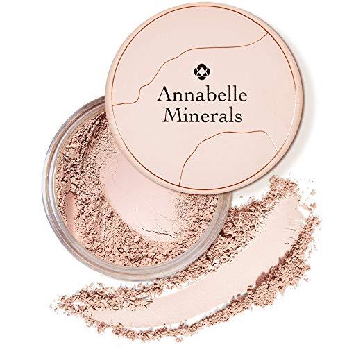 Annabelle Minerals - Matte Mineral Foundation mit Lichtschutzfaktor - Natürliche Inhaltsstoffe - Matt - Glatte Haut & Natürlich - Sonnenschutz LSF10 - Für alle Hauttypen - Vegan - Natural Medium 10g