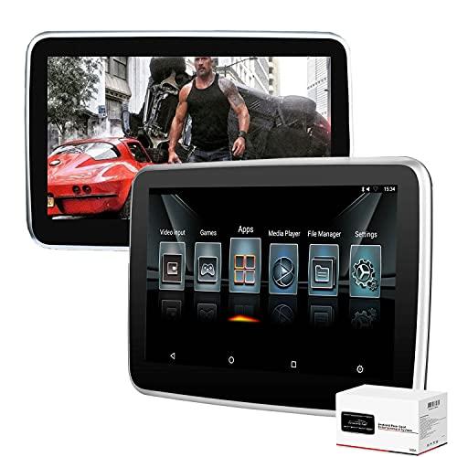 MaSYZBF Coche Reproductor de DVD para Reposacabezas, Multimedia Negro con Pantalla táctil de 10.1 Pulgadas, Reproductor de DVD, Ranura para Tarjeta SD y USB, Negro