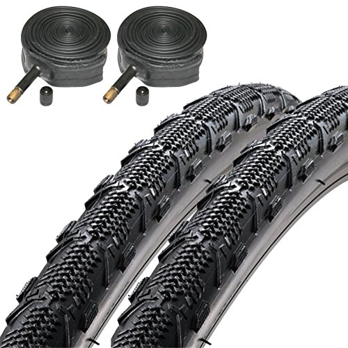Duro Ellie Mae 700 x 35c CX Hybrid Bike Tyres with Schrader Tubes (Pair)