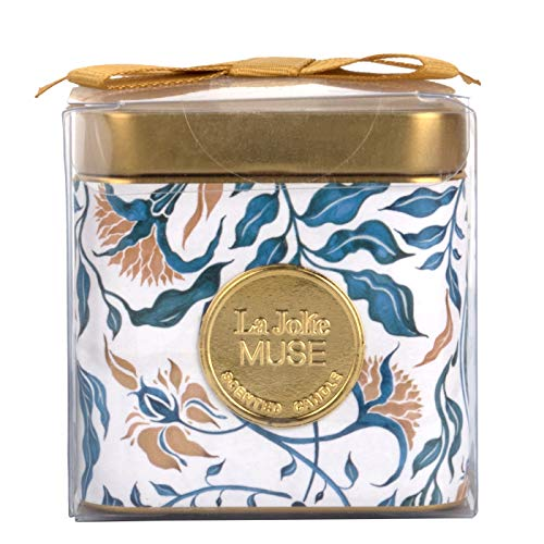 LA JOLIE MUSE Mediterranean Breeze Scented Candle, Natural Wax Candle for Home & Holiday, 25 Hours Long Burning, Tin, 110g