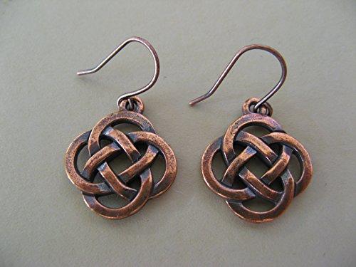 Copper Finish Celtic Knots Earrings