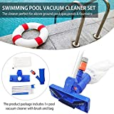 Aspirador de piscina portátil Aspirador de limpieza bajo el agua para piscinas sobre el suelo Balnearios Estanques y fuentes Aspiradora de piscina