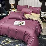 Ropa de cama de algodón de 3/4 piezas,Serie de color sólido,Decoración del hogar simple,funda de edredón, sában/funda de colchón de, Funda de almohada individual,sábanas1.2m(funda de edredón150*200cm)