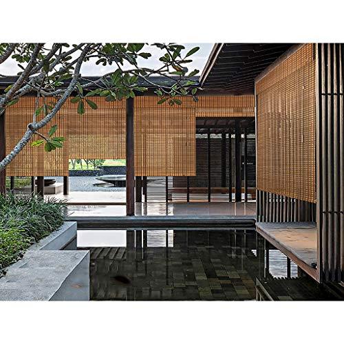 Lisa Persiane per Tende da Esterno per Tende a Rullo in bambù Carbonizzato per Esterni, Protezione Solare per Protezione Solare, Tende da Giardino Pergolato Pergolato