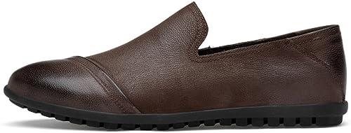 Xujw-chaussures, 2018 Chaussures Homme d'été Mocassins pour Hommes en Cuir véritable (Couleur   Marron, Taille   47 EU)