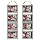Eono by Amazon - Marcos de Fotos con Cuerda de Pared, 10 x 15cm (Paquete de2)