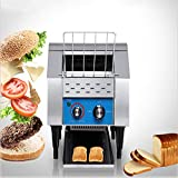 Commercial Conveyor Toaster, 110V 1350W, Food Grade Stainless Steel Material, 200 Pcs/H Conveying Speed, for Bakeries and Restaurants, Electric Conveyor Toaster
