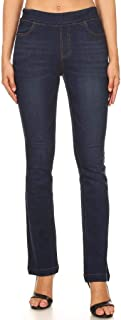 Women's High Waist Pull-On Stretch Slim Bootcut Jeggings Denim Pants