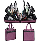 PACMAXI Sewing Accessories Storage Bag, Knitting, Craft Tools and Accessories Organizer, Roomy Carrying Bag for Sewing Tools and Accessories(Purple)
