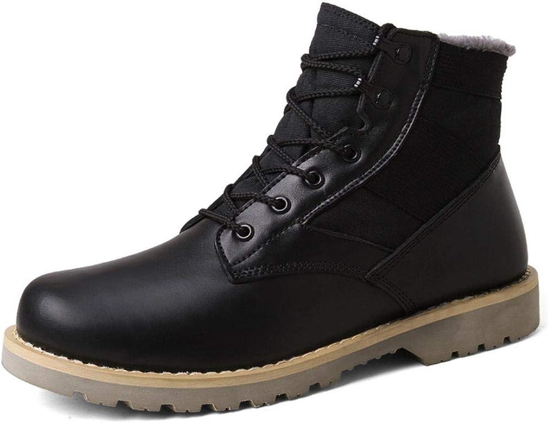 Oudan Martin Stiefel hoch zu helfen, Herbst und Winter mattierte Stiefel Stiefel Wanderschuhe Männer (Farbe   Schwarz, Größe   43)  | Speichern