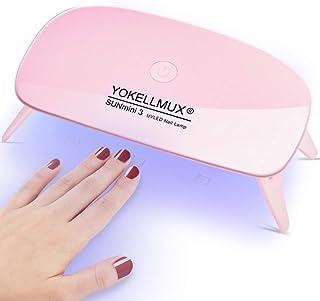 ジェルネイルライト UVライト LEDネイルドライヤー YOKELLMUX LED 硬化用ライト ハイパワーチップ式 usbライト レジン道具 タイマー設定可能 60s/180s 折りたたみ式手足とも使える ケーブル付き