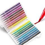 Pinceles para Pinceles,Set de 18 Pinceles para Acuarela,con Punta Suave y Flexible, caligrafía,Pintura para niños,Libro para Colorear para Adultos,Obras artísticas,Manga