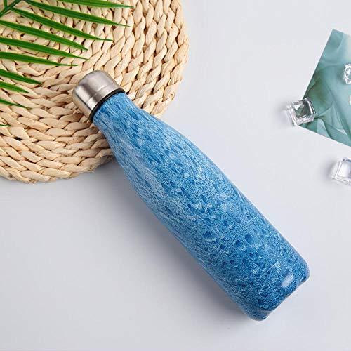 DLSM Taza de Aislamiento al vacío Taza de Aislamiento Botella de Agua Botella de Agua Reutilizable Deportes al Aire Libre Portátil-C5