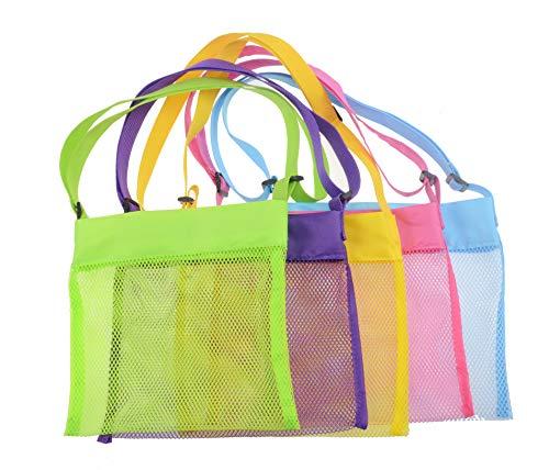 Shenglong Mesh Beach Bags,Seashell Mesh Bags(Set of 5)