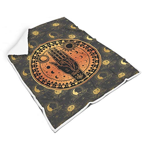 Ainiteey Palmistry Tarot Card Magic Sun Stars Moon chique kleurloos zacht voor stoel microvezel voor alle mensen veelzijdige stijl
