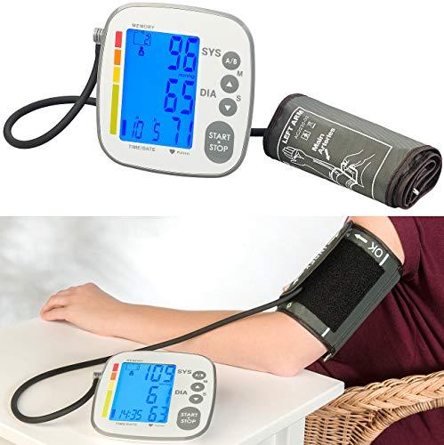 newgen medicals Blutdruck-Messgerät: Medizinisches Oberarm-Blutdruckmessgerät mit LCD & 500 Speicherplätzen (Elektronisches Blutdruckmessgerät)