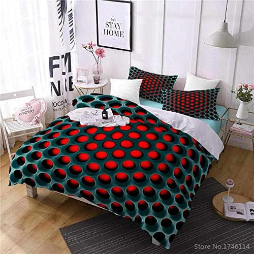 zxczxc Fashion Honeycomb 3D Printed Bedding Set Soft Comforter Cover Pillowcase Set Bedclothes Home Textile Twin Full Queen King Size
