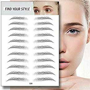4D Hair-Like Authentic Eyebrows,Stick to wear Instantly,Semi-Permanent Stick-On Eyebrows False Natural for Women and Men,10 Pcs