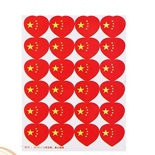 Egurs 240 stuks / 10 vellen zelfklevende Chinese vlag stickers met vervalste tattoo