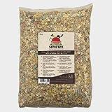 Seedzbox Ultimate Deluxe Wildvogel Futter-Mix aus Samen/Nüssen u. Talgpellets - natürliche Nahrung für Vögel - mit Mais, Weizen, Rosinen - reich an gesunden Fetten u. Ballaststoffen - 5kg