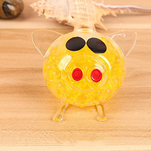 SSSabsir Children Fun Squishys Cute Ball Pig Squishy Funny Gadgets Anti Stress Novelty Ball Toy yellow