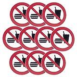 Pegatina Poliéster 3M Prohibido Comer (Pack 10...