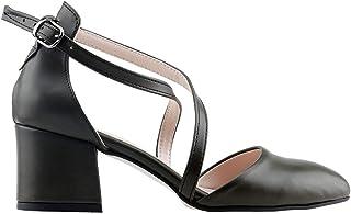Ayakland 97544-385 Günlük 5 Cm Topuk Bayan Cilt Sandalet Ayakkabı YEŞİL
